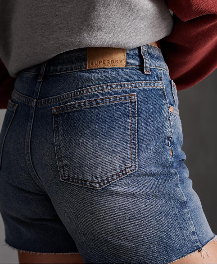 Indexbild 26 - Superdry Damen Mittellange Denim-Shorts