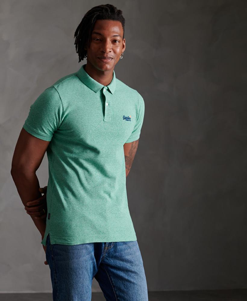 thumbnail 32 - Superdry Mens Organic Cotton Classic Pique Polo Shirt