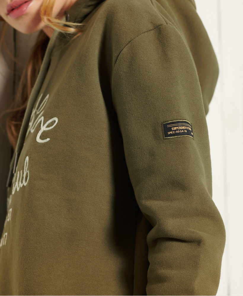 thumbnail 11 - Superdry Womens Military Logo Crop Hoodie