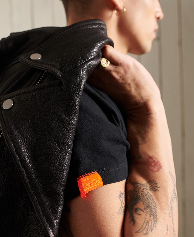 thumbnail 9 - Superdry Mens Orange Label Vintage Embroidery V-Neck T-Shirt