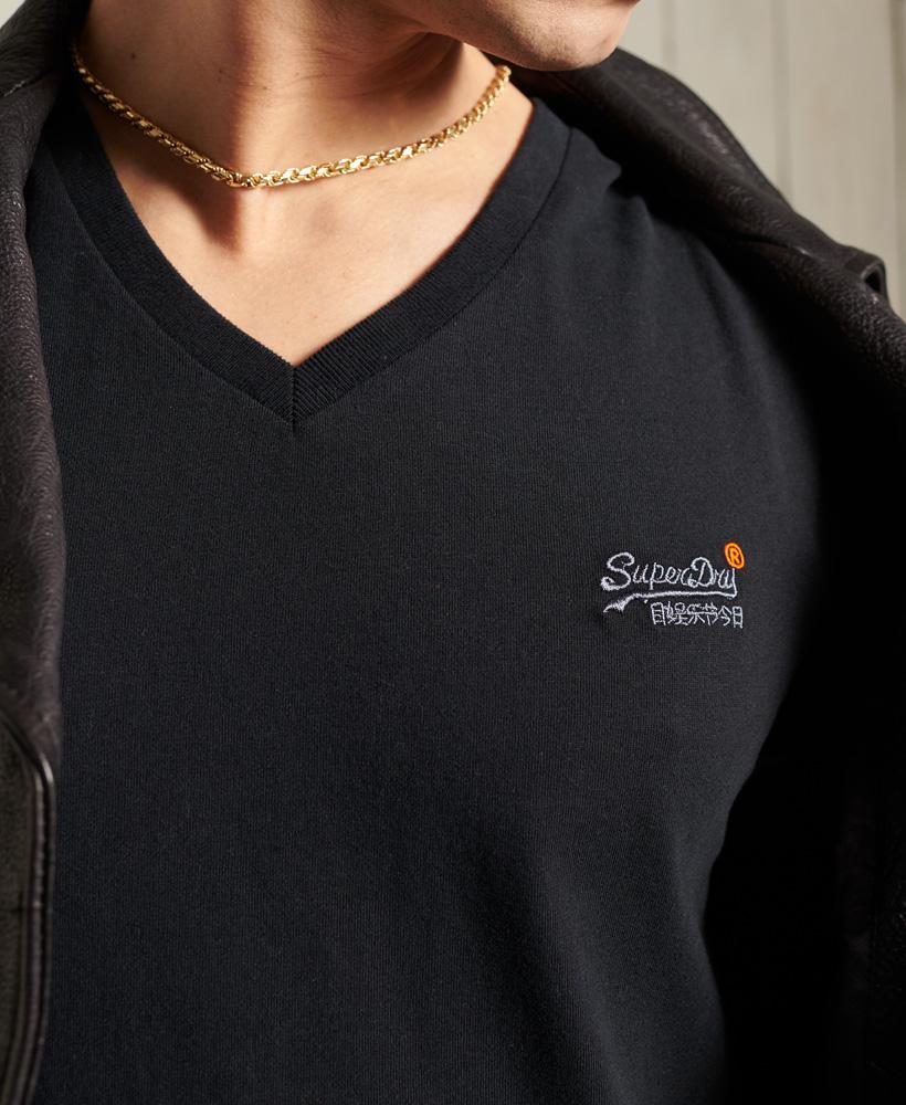 thumbnail 8 - Superdry Mens Orange Label Vintage Embroidery V-Neck T-Shirt